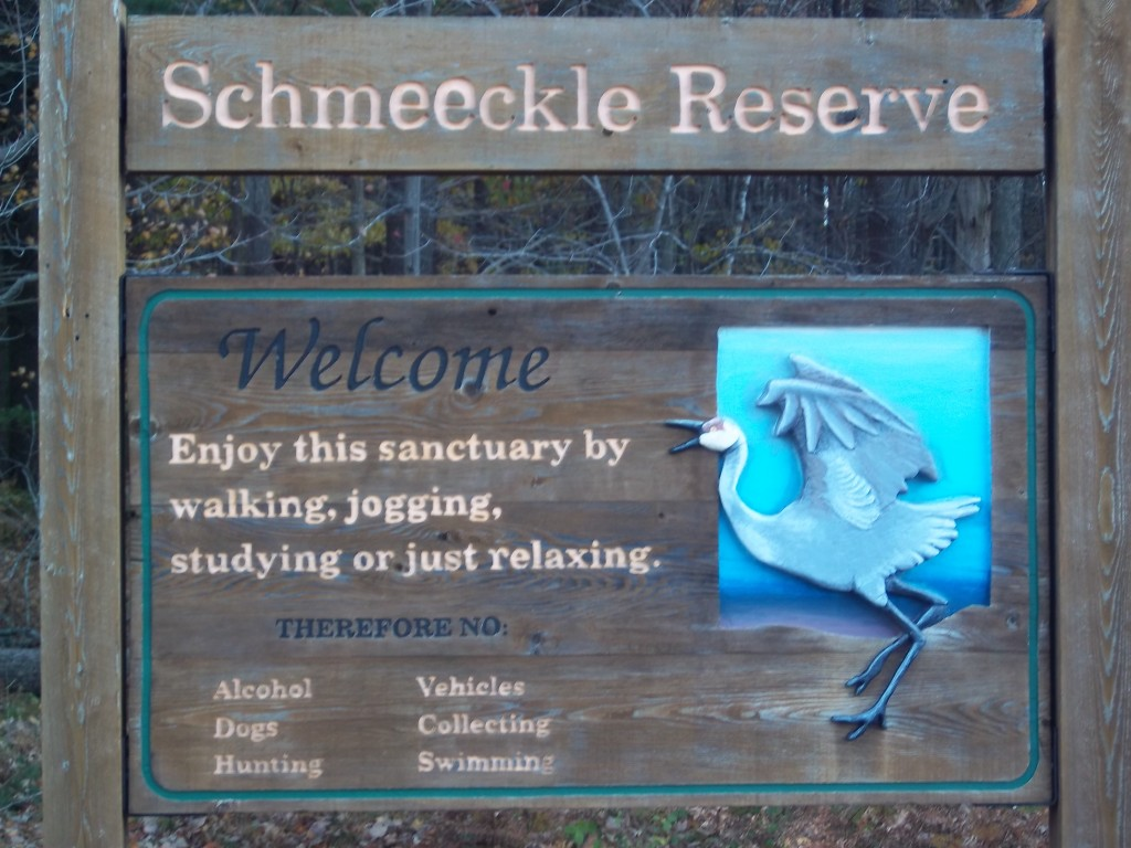 Welcome Sign to Schmeeckle Reserve