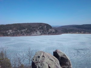 Devil's Lake in Early April