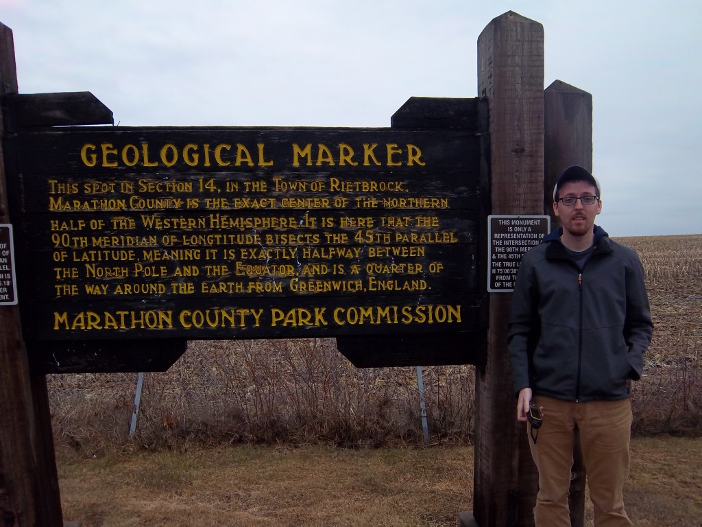 The informational Marker at the 45x90 point in Poniatowski, WI