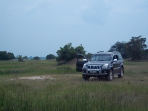 Our Toyota Land Cruiser Prado on Safari at Akagera National Park