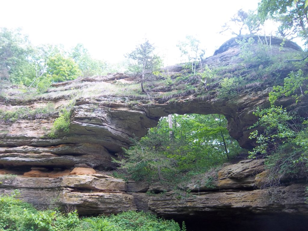 The arch at Natural Bridge State Park