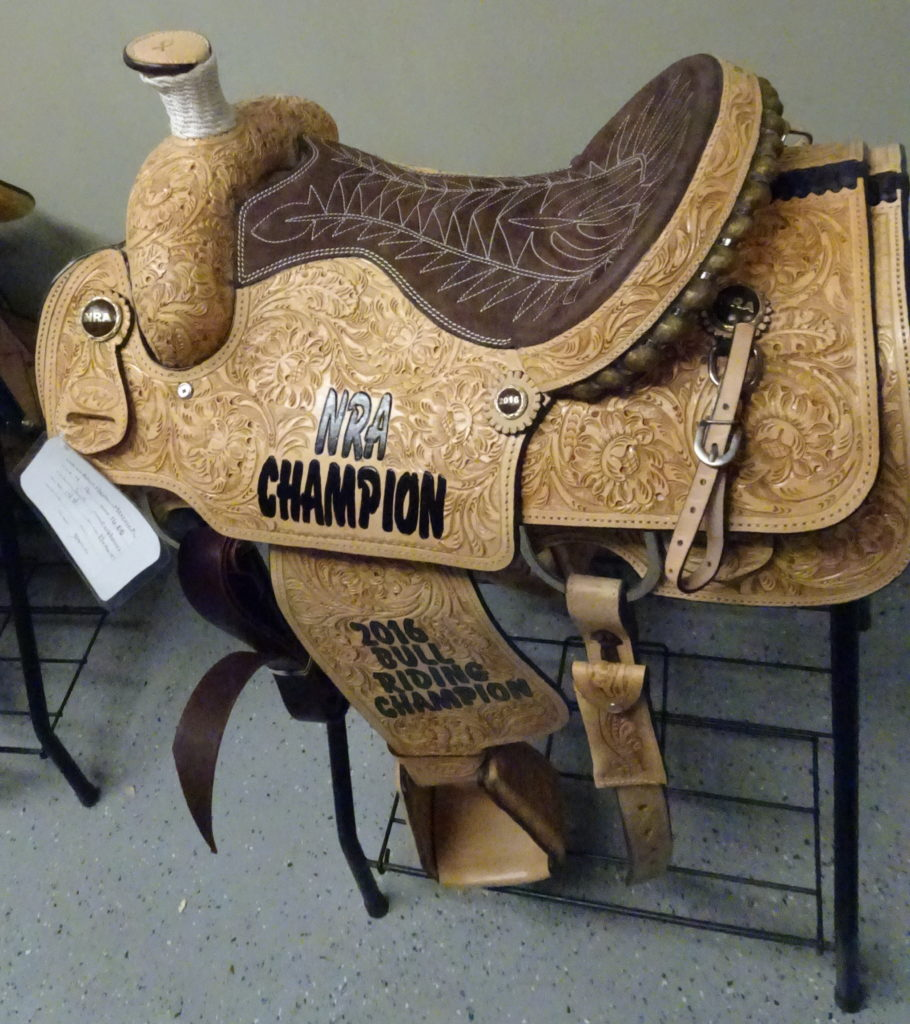 The prize for the best bull rider